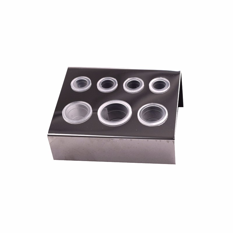 Holes Pigment Container Stand Tattoo Accessories Supplies Stainless Steel tattoo permanent makeup Ink Cup Holder IBCH024 (2)
