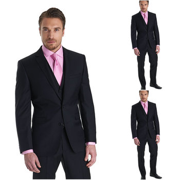 Custom Made Groom Tuxedo 3 Colors Groomsmen Notch Lapel Wedding/Dinner Suits Best Man Bridegroom (Jacket+Pants+Tie+Vest) B167
