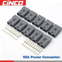 10 teile/los 24V 12V DC Power Stecker 50A 50 ampere Stecker Carvan Ladegerät Batterie tragbare ladegerät hohe temperatur widerstand