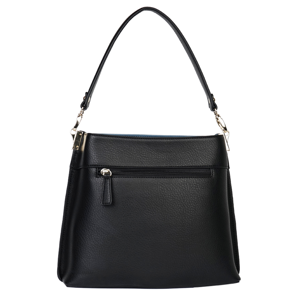 MIYACO Casual Women Bucket Bag Black Leather Handbag Shoulder Bag Designer Totes High Quality sac a main-in Shoulder Bags from Luggage & Bags    3