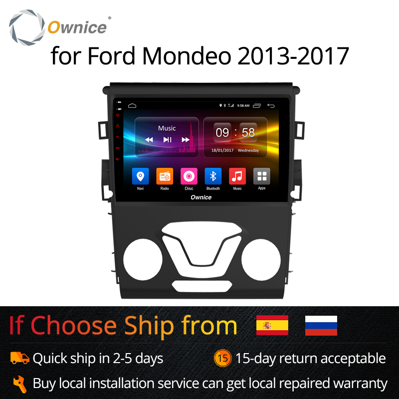 Ownice K1 K2 Octa base Android 8.1 Voiture 2 Din radio gps lecteur dvd pour Ford Mondeo 2013-2017 autoradio Multimédia GPS
