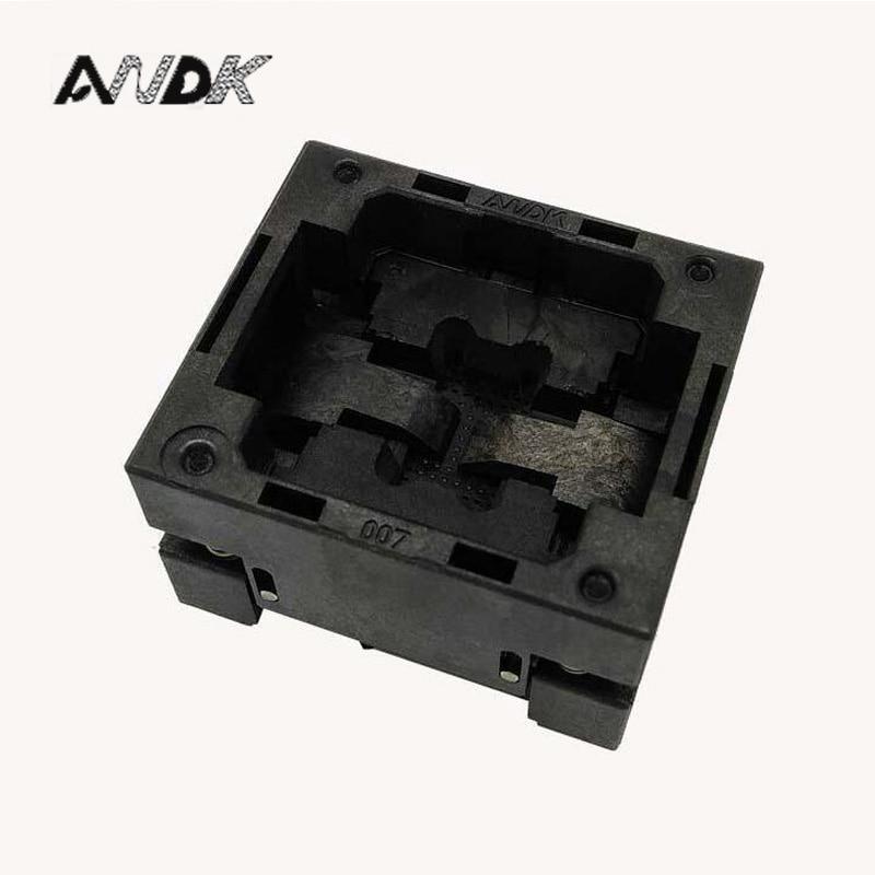 BGA48 OUVERT TOP socket pin pas 0.8mm IC taille 11*12mm BGA48 (11*12)-0.8-TP07/50N BGA48 VFBGA48 Brûler dans/programmeur socket