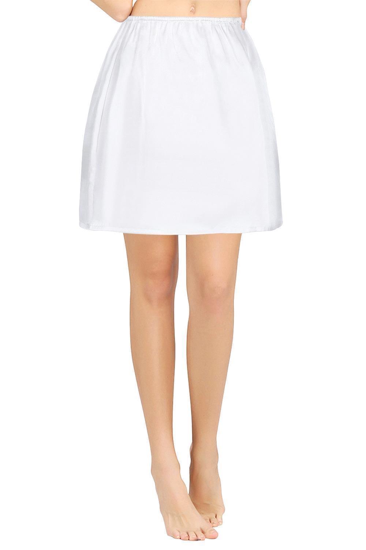 Sexy Intimates Silk Women Half Slips Underdress Underskirt Mini Skirt Underwear Lingerie in Half Slips from Underwear Sleepwears