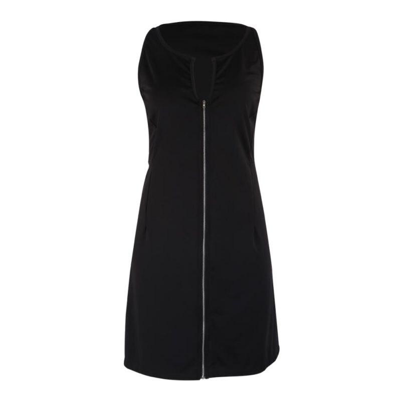 Женское платье большого размера на молнии для вечеринки без рукавов облегающее мини-платье 2018 летнее платье M-5XL P2