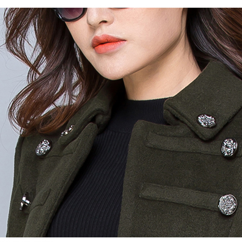 Winter Large size S-3XL Wool Women Jacket Coat 2018 Autumn Fashion Mid long High quality Double-breasted Female Outerwear ll582