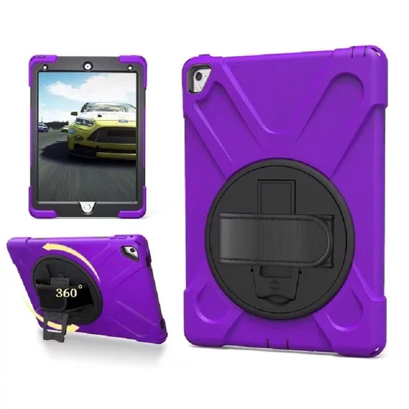 Case For Apple Pad Pro 9.7 Cover Heavy Duty Shockproof Hybrid Hand Strape Kickstand Protective Cover