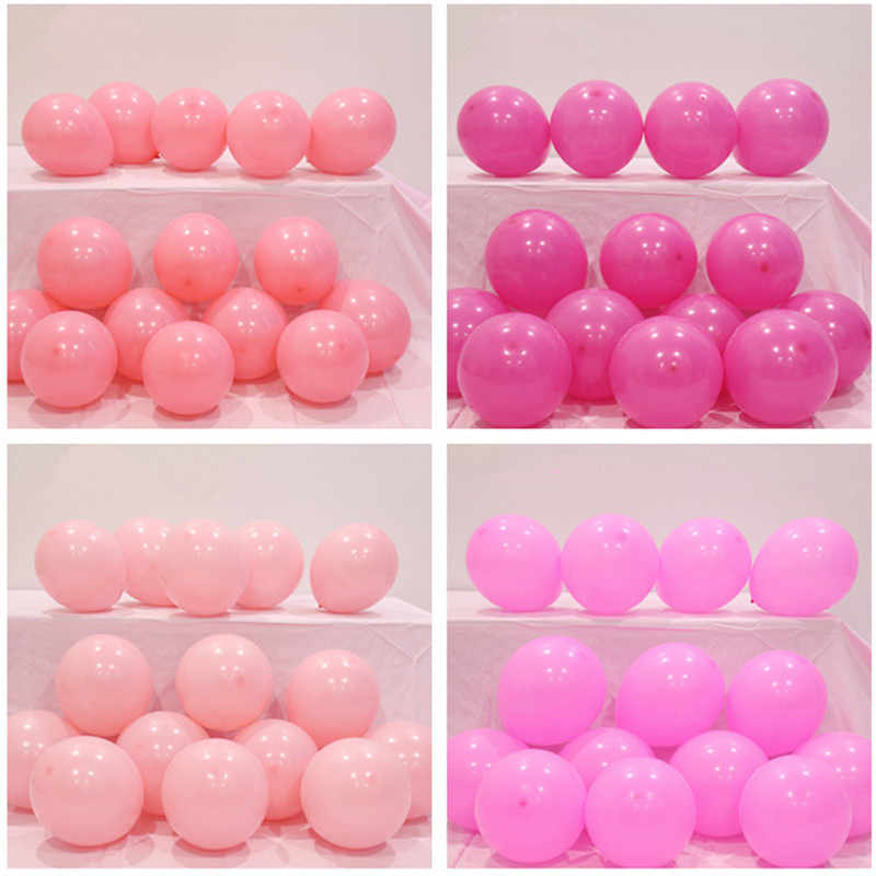 5pcs 12inch 2.2g Inflatable Pink Confetti Balloons Balls Baby Shower Birthday Balloons Party Decoration Kid Favors Latex Balloon