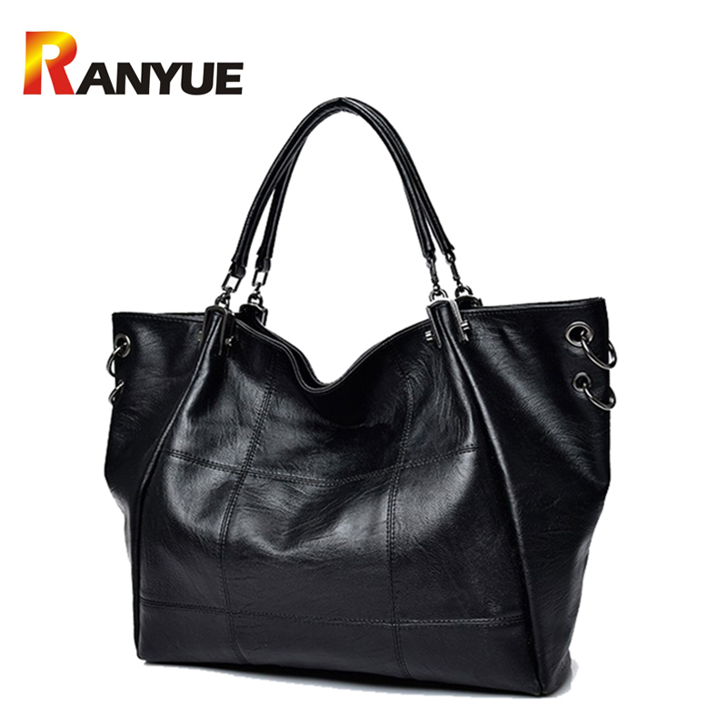Luxury Handbags Women Bags Designer Thread PU Leather Shoulder Bag Women Black Crossbody Bags Large Capacity Casual Tote Bag Sac  women casual bow striped tote bags brand designer pu leather handbags large shoulder bag luxury ladies crossbody messenger bags