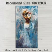 Картина маслом на холсте с изображением красивой леди