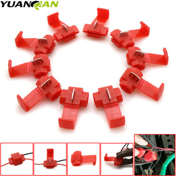 10Pcs/set for Wire Crimp Terminals Connector Quick Splice Wiring Cable Clamp Red Connection Wholesale Maintenance Tools image
