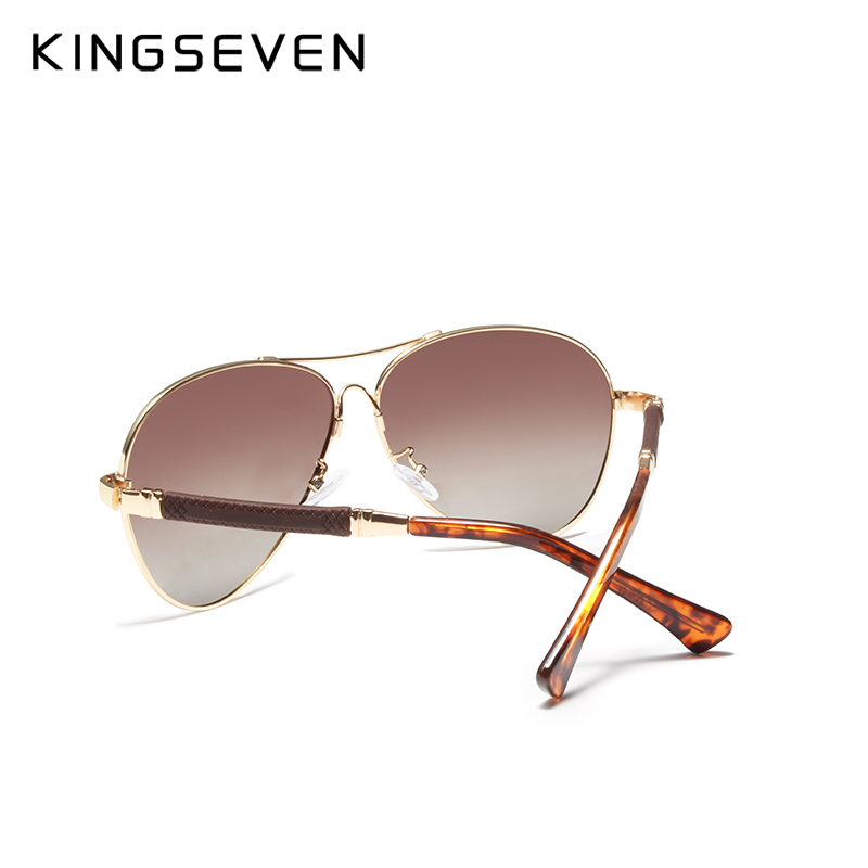 Image 3 - KINGSEVEN High Quality Pilot Sunglasses Men Polarized UV400 Sun glasses Goggle Oculos De Sol Accessories Driving Eyewear-in Men's Sunglasses from Apparel Accessories