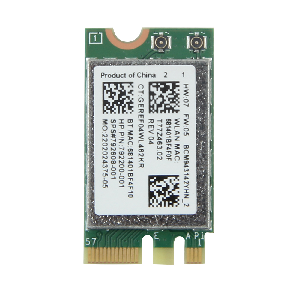 150Mbps Wifi Wlan For Broadcom BCM943142Y M.2 NGFF Wireless-N 150M 802.11b/g/n Bluetooth 4.0 Network Mini Card HP SPS:792608-001 цена