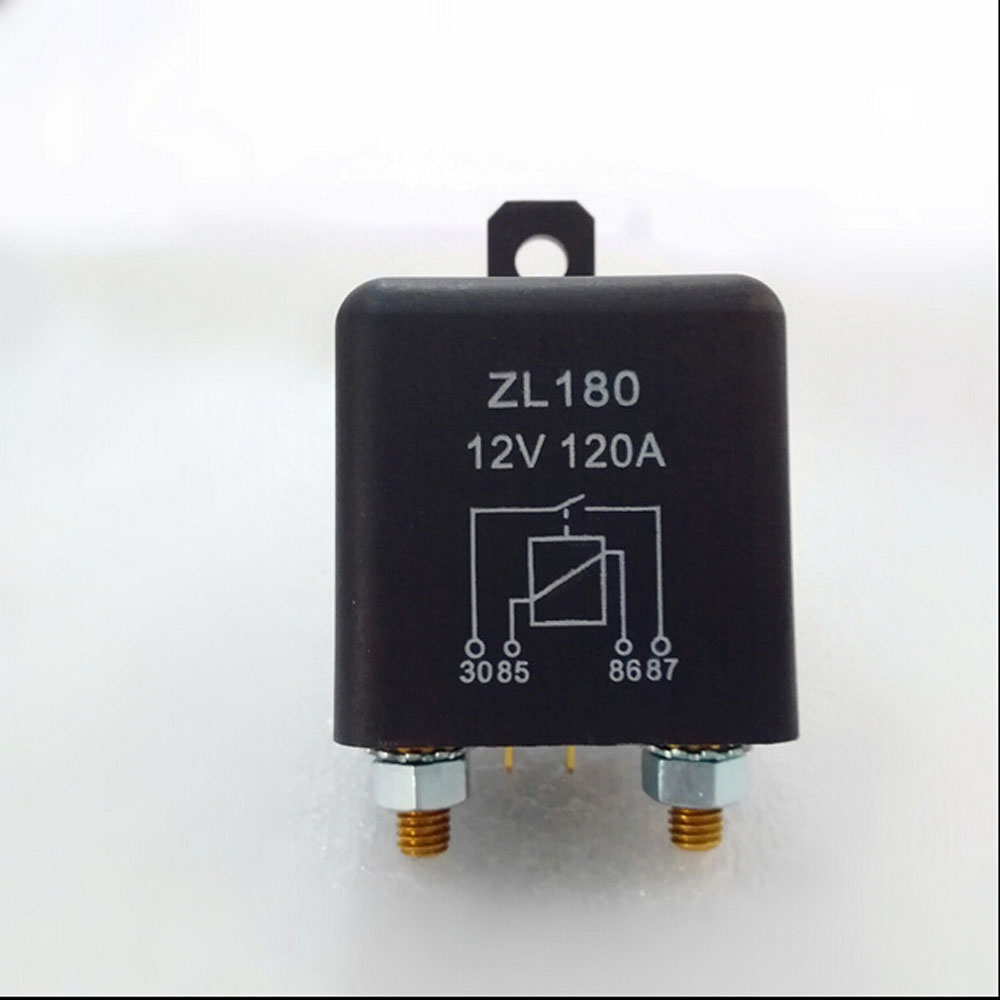 Automobile relay ZL180 normally open electromagnetic current 120 A DC12V 4 pin Auto starter relay normally open single phase solid state relay ssr mgr 1 d48120 120a control dc ac 24 480v