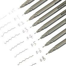 1 шт. на водной основе кисти маркеров различных Размеры пигмент лайнер треугольные Fineliner ручки для художественных принадлежностей канцелярские