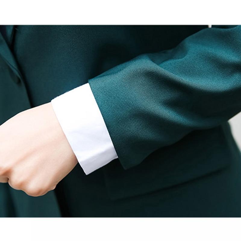 New Arrived Women Suit 2018 Fashion Slim Business Office OL Dark - Women's Clothing - Photo 5