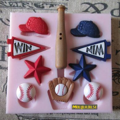 baseball cap fondant mold font silicone cake pan