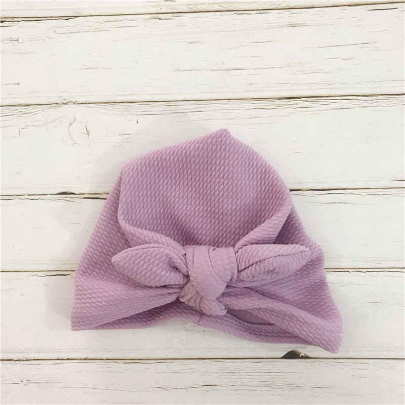 Noeud noeud bébé bandeaux infantile chapeaux nouveau-né Turban chapeaux bébés casquettes