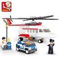 Sluban Compatible Lego Privado personal de Vuelo del helicóptero Modelo de Avión de Sistema Del Bloque de Construcción de Ladrillos DIY Juguetes Regalos de Navidad