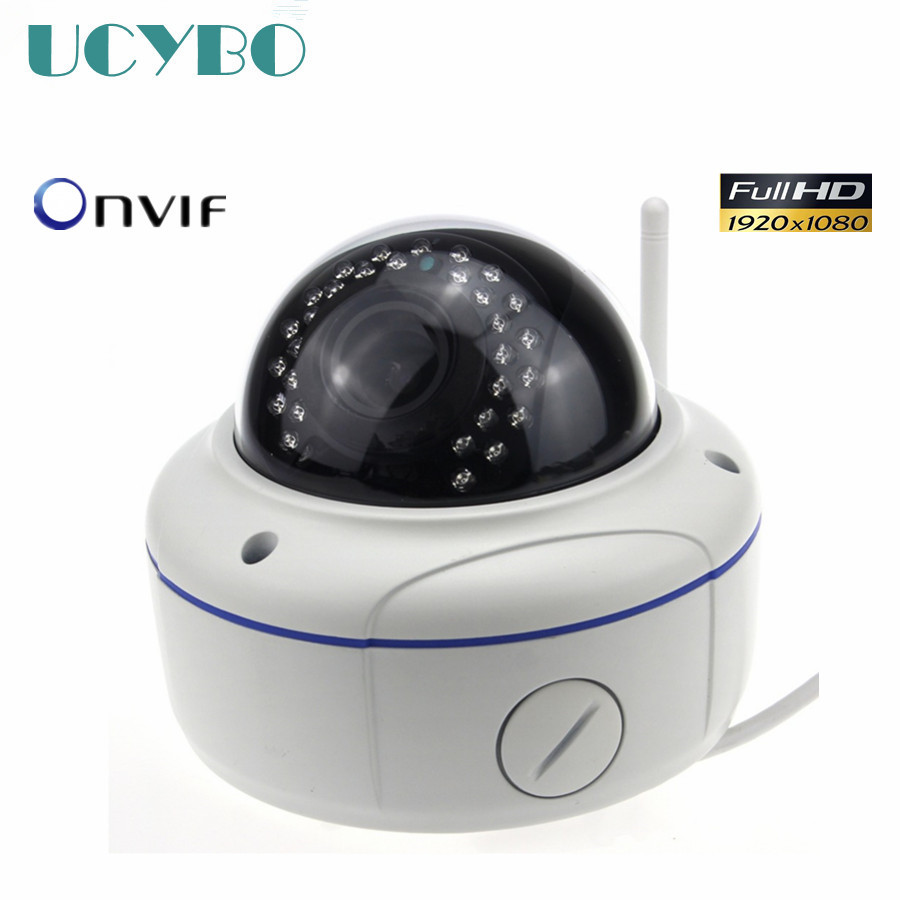 Wireless HD 1080P IP Camera network dome metal Outdoor Wifi 4X Zoom Auto Focus 2.8-12mm 2MP IR Onvif p2p home security ip cam ip camera 4x zoom auto focus 2688 1520 aluminum metal waterproof outdoor dome cctv system p2p ipcam infrared cam with ir cut