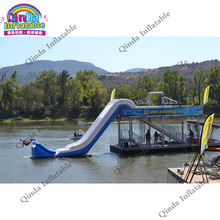 Custom Yacht Slide / Inflatable Cruiser Slide / Inflatable Boat Slide Popular Water Slide For Yacht