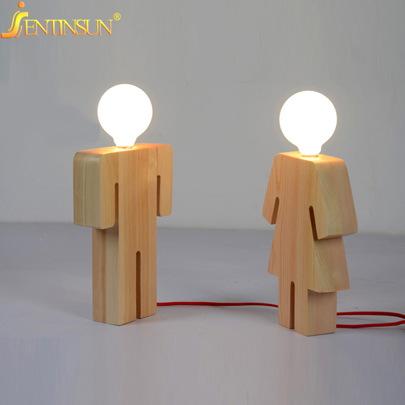 Wood Table Lamp Picture More Detailed About High End On: Modern Designer Boy Girl Shape Table Lamp Art Decoration