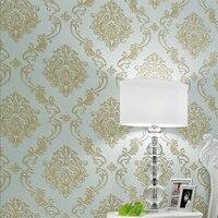 Beibehang European Damascus Nonwovens Wallpaper Luxury 3D Large Flower Bedroom Living Room Full Wall Paper Papel