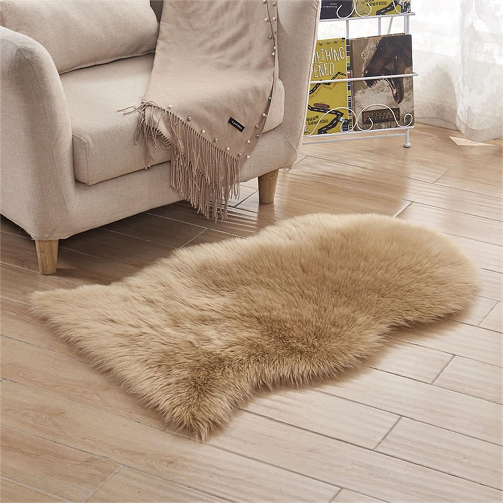 Activity & Gear Mother & Kids 100x75cm Soft Sheepskin Rug Mat Anti Slip Carpet Pad Chair Cushion Floor Pad Home Baby Play Mat Bedroom Living Room Sofa Cover
