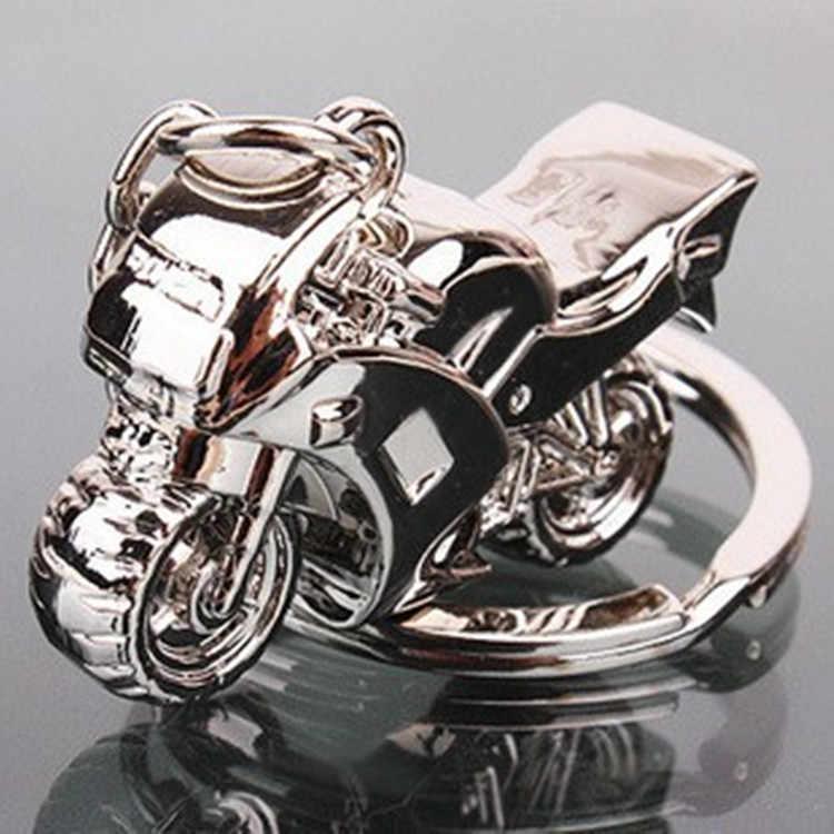 2019 Nova personalidade Criativa presentes pendurados carro motocicleta anel chave do metal artesanato Chaveiros Para presente Jóias Mulheres