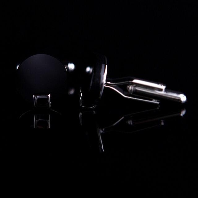 Black Round Cuff links  2