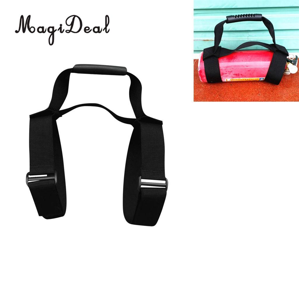 MagiDeal Heavy Duty Scuba Diving Tank Air Cylinder Bottle Carrying Strap with Handle