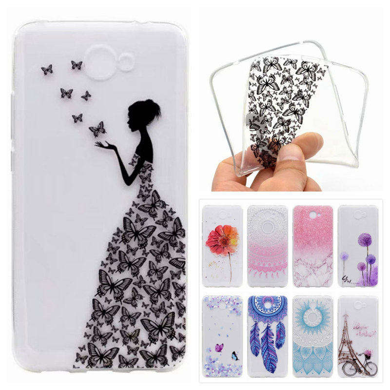 Y7 Soft Slim TPU Case On Huawei Y7 Case Cute Silicone Phone Cases Coque For Huawei Y7 Back Cover
