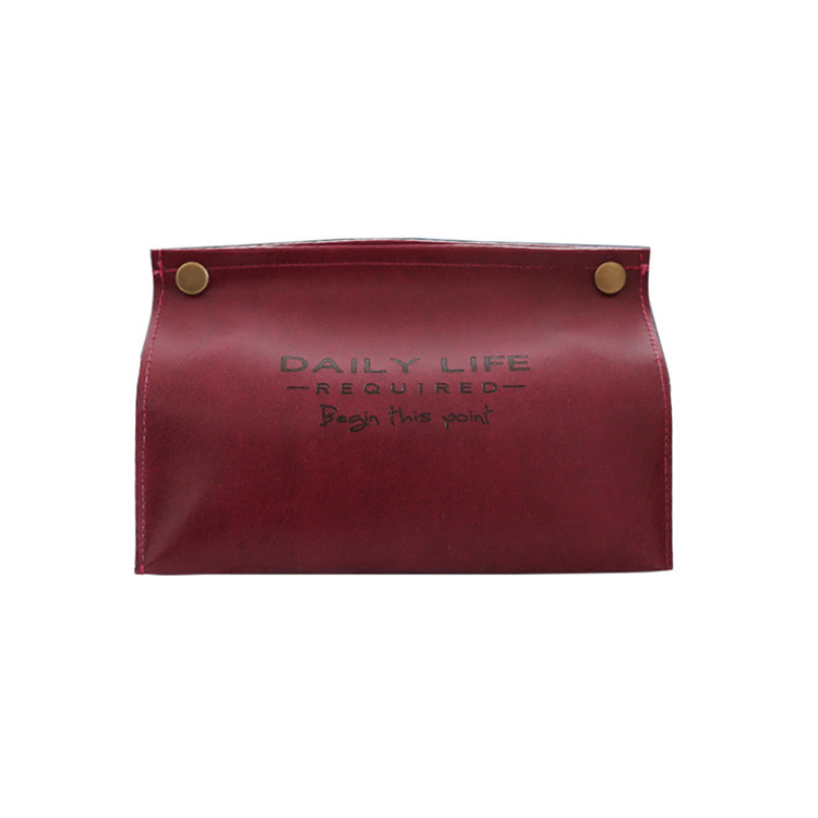 Держатель из искусственной кожи для полотенец, салфеток, салфеток, контейнер, коробка для салфеток, диспенсер для бумаги, держатель для салфеток, чехол для офиса, украшения дома - Цвет: Red