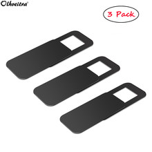 Olhveitra 3 PCS Webcam Abdeckung Magnet Slider Kunststoff Web Kamera Für PC MacBook iPad Tablet Smartphone Privatsphäre Sicherheit Kamera Objektiv(China)