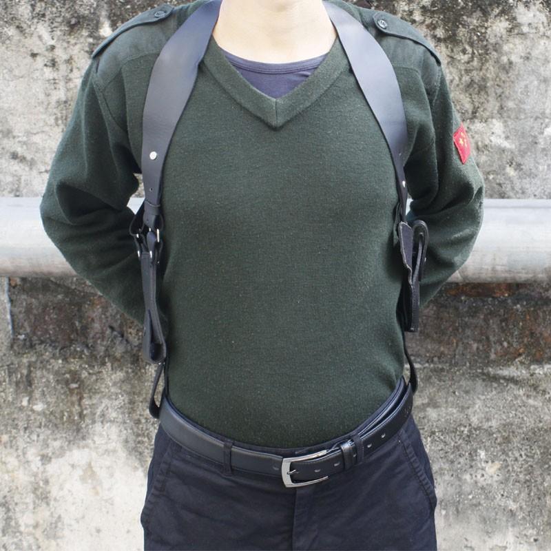 High Quality Tactical Leather Shoulder Pistol Holster For PPK/PPKS Series  (Black)