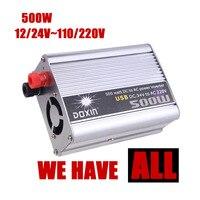 Hurtownie samochodów konwerter Zasilania USB ładowarka DC 12/24 V AC 110/220 V 500 W Zmodyfikowany Sinusoida ładowarka USB