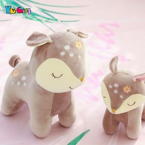 Image 3 - Cute Deer Plush Toy Soft Plush baby Doll Stuffed Animals Appease Toys Kids  Birthday Gifts Christmas Gifts Decoration Toy