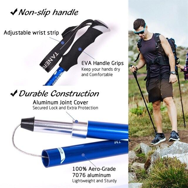 EVA Handle 4-Section Adjustable Walking Sticks 4