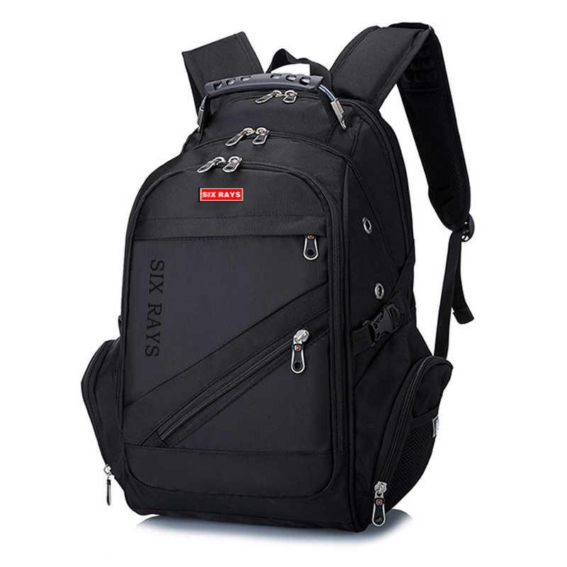 جديد أكسفورد السويسري على ظهره USB شحن 15.6 بوصة محمول الرجال مقاوم للماء حقيبة للسفر الإناث خمر حقيبة مدرسية على ظهره mochila