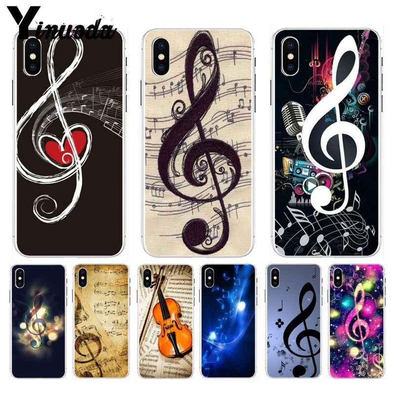 Yinuoda Musical Ghi Chú Violon Âm Nhạc Cổ Điển Sang Trọng trường hợp điện thoại Lai cho iPhone 8 7 6 6 S Cộng Với X XS max 10 5 5 S SE XR