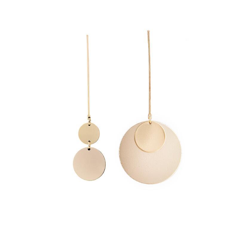 CXW Asymmetrical fashionable alloy earrings for women hoop earrings jewelry A08 in Drop Earrings from Jewelry Accessories