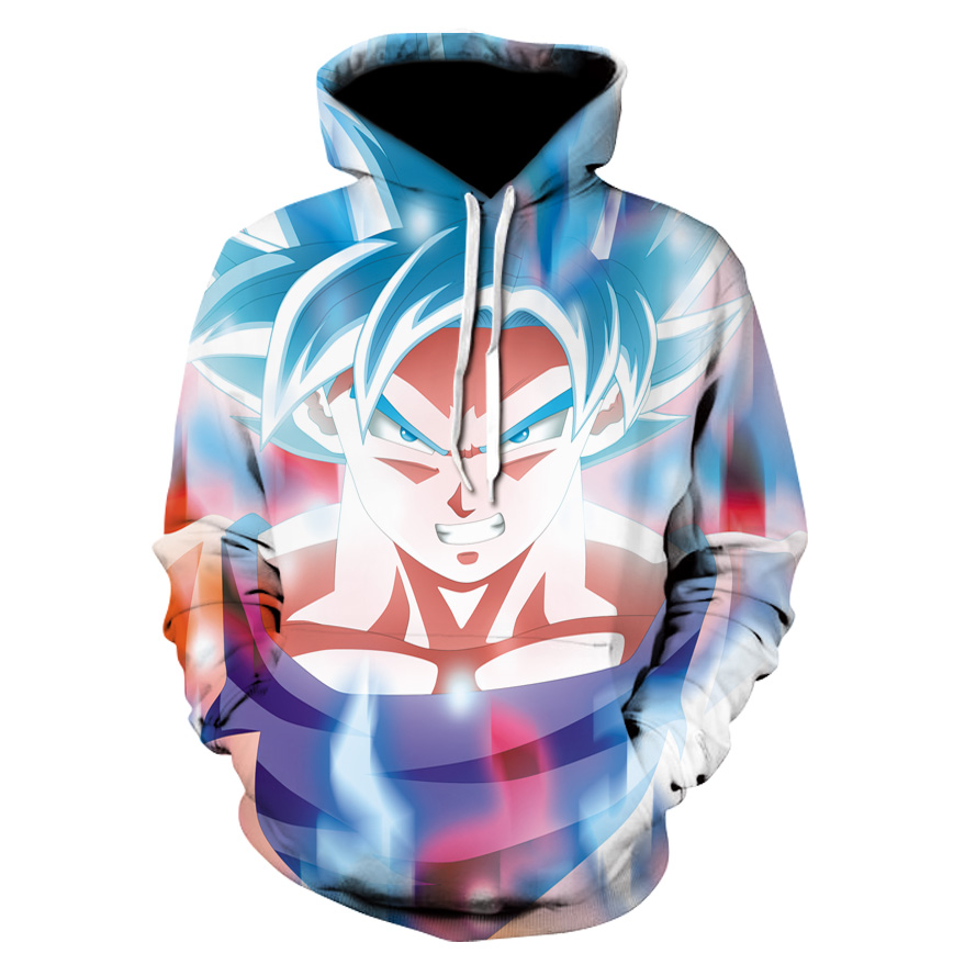Unisex Hot Anime Coat Men Super Saiya Vegeta Printed 3D Hoodie Dragon Ball Sweatshirts Cartoon Outwear for Students Teen Clothes
