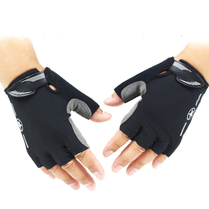 Cycling Fitness Sports Leather Gloves One Size Half Finger