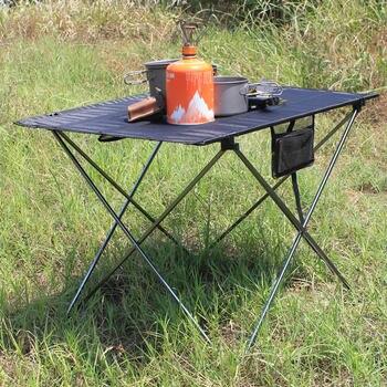 Taşınabilir Katlanabilir Masa Kamp dış mekan mobilyası Bilgisayar Yatak Masaları Piknik 6061 Alüminyum Alaşım Ultra Hafif Katlanır Masa