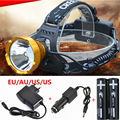 New led Headlight 1800LM CREE XML Q5 Outdoor 3-Mode HeadLamp 18650 bike Light +2x 18650 battery+DC charger+Car charger