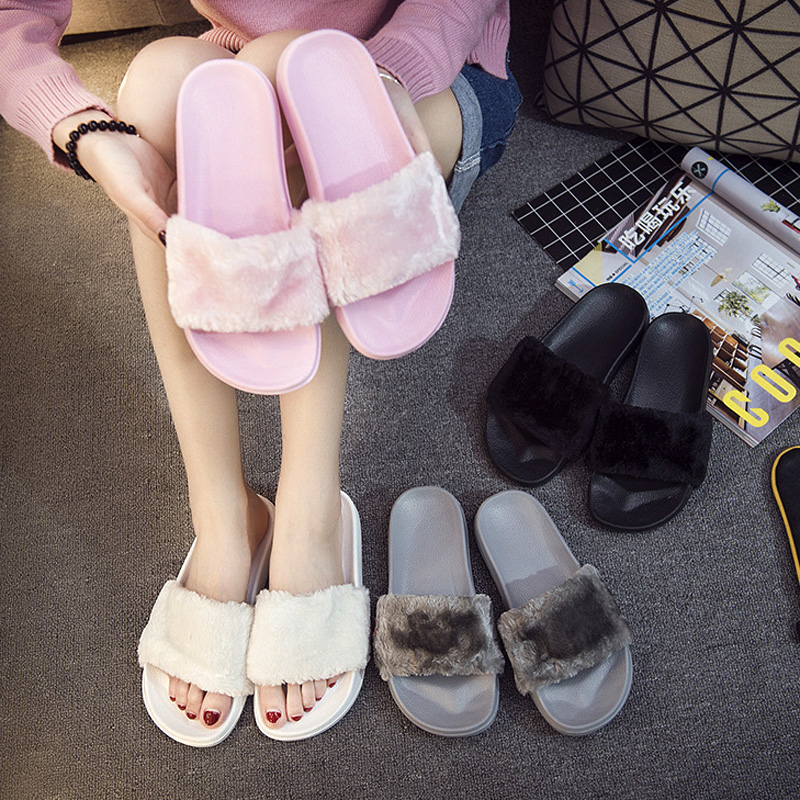 Silk Bow Slides Women Summer Beach Shoes Woman No Fur Slippers Flat Heels Flip Flops Ladies Rihanna Bohemia Sandals Sandalias plush winter slippers indoor animal emoji furry house home with fur flip flops women fluffy rihanna slides fenty shoes