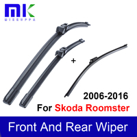 Car Soft Rubber Front And Rear Wiper Blade For Skoda Roomster 2006 Onwards Window Windshield Wiper