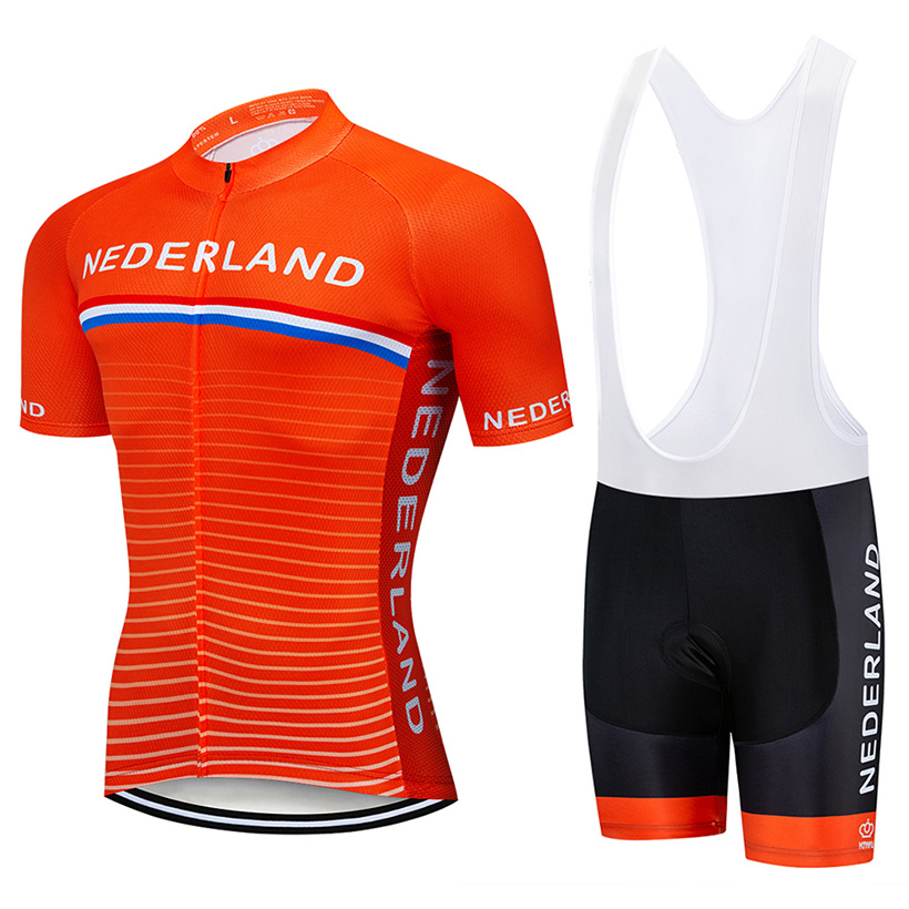 Crossrider 2019 Team Nederland Cycling Jersey MTB bike Clothing Men Short Set Ropa Ciclismo Bicycle Wear Clothes Maillot Culotte 2