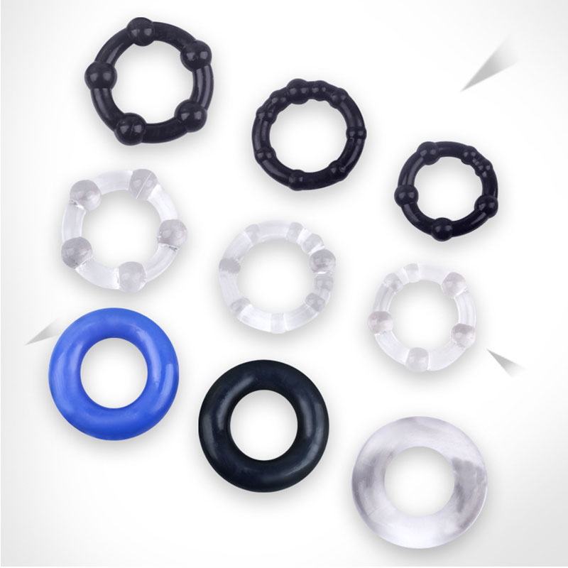 3pcs/Set Silicone Penis Ring Reusable Condom Bound Delay Cock Ring Delay Ejaculation Penis Sleeve Ring Sex Toys For Couple