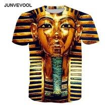 Vintage T-Shirt Golden Egyptian Pharaoh T shirts 3d Printed Men's Hip hop Fitness Tee shirts Harajuku Summer HOT SALE 6xl tshirt