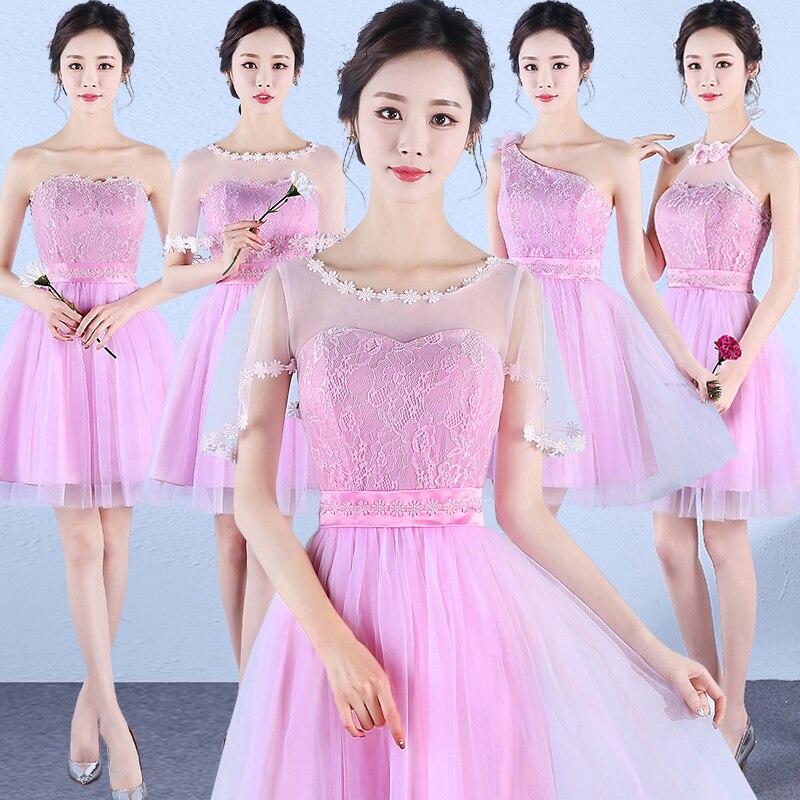 Sweet Memory pink short sleeve Bridesmaid Dress Gr...